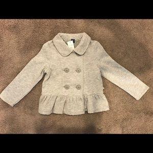 Baby Gap Sweatshirt Ruffle Jacket Blazer